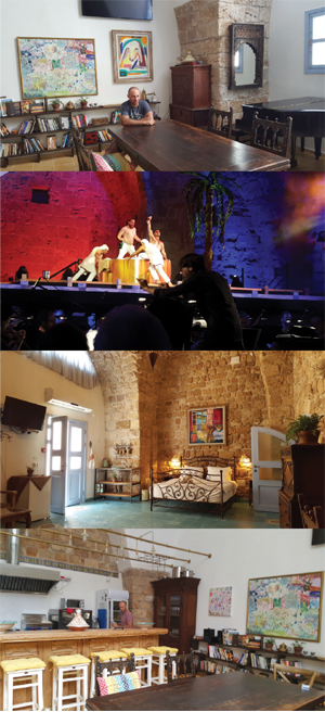 Primer Foto: MIcha Fallenberg en la sala de arte de Arabesque. Segunda: Opera el Rapto de Mozart