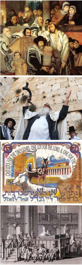 Primera Foto: Ilustración. Segunda: Foto: Government Press Office. Tercera: Chivo expiatorio. Cuarta: Sinagoga, 1733, Francia.
