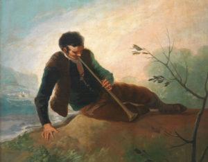 """Francisco Goya """"Pastor tocando la dulzaina"""" Museo del Prado"""