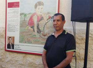 El artista Shakeeb Amoon en Yarka