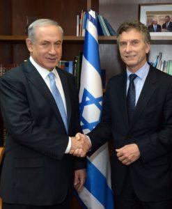 Netanyahu y Macri Foto: Haim Zach / GPO