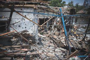 Casa destruida en Yehud