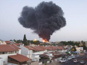 Misil caído en Sderot