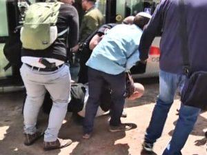 El terrorista detenido en la escena Foto: Canal 2