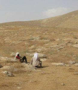 Beduinos en el desierto