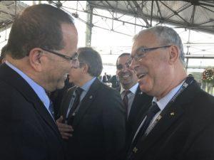 Ayoob Kara con el representante de la Autoridad Palestina en Ecuador Foto: @ayoobkara Twitter