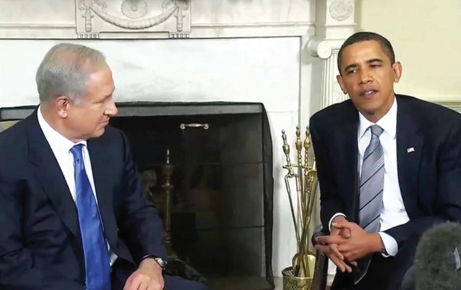 El ex presidente Obama con el Primer m}Ministro israelí