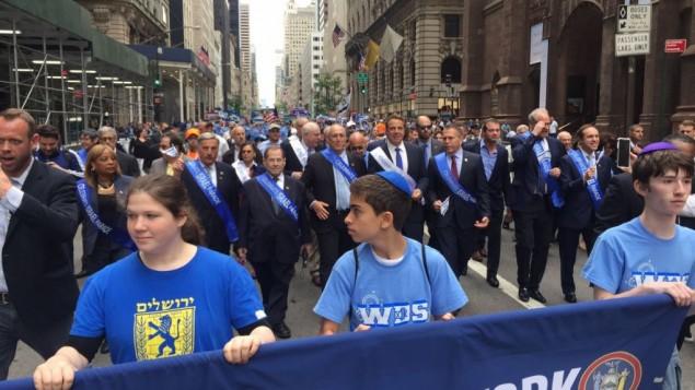 Decenas de personas muestran su apoyo a Israel en Manhattan