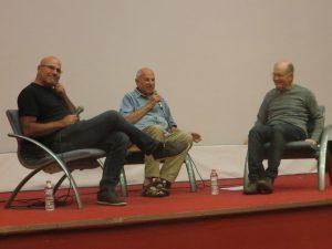 Gazison, Judd Neeman y Ram Levy en el panel