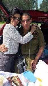 Elor Azaria con su madre Foto: Facebook
