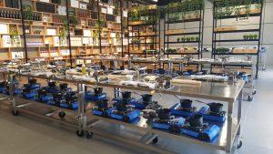 El amplio centro culinario