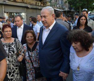 Netanyahu en el sur de Tel Aviv Foto: GPO Amos Ben Gershom vía Facebook