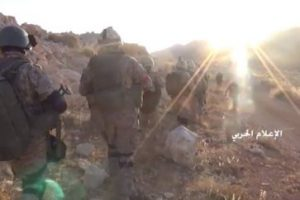 Foto: Tropas de  Hezbollah combatiendo en la frontera sirio-libanesa