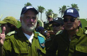 El tte. gral. Dan Halutz y Gral. de División Dan Harel durante la retirada