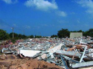 Destrucción de las casas en Gush Katif