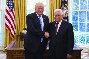 Donald Trump y Mahmoud Abbás