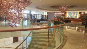 El gran lobby del hotel