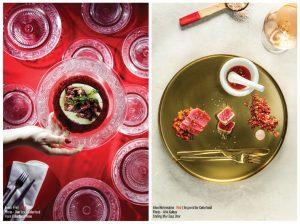 Rojo: foto y plato servido