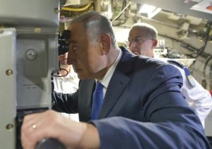 Netanyahu en el submarino