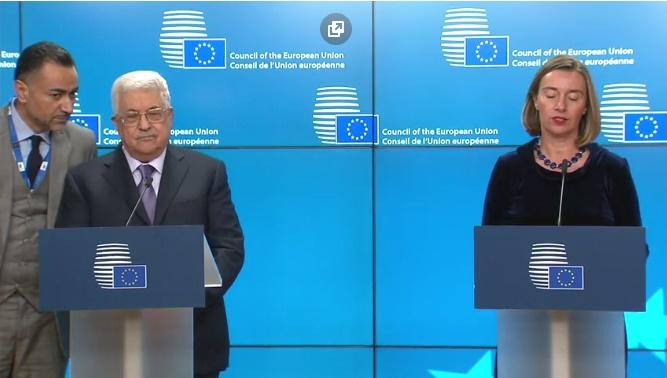"""Abbás a la Unión Europea: """"El reconocimiento de Palestina no es un obstáculo para la paz"""""""