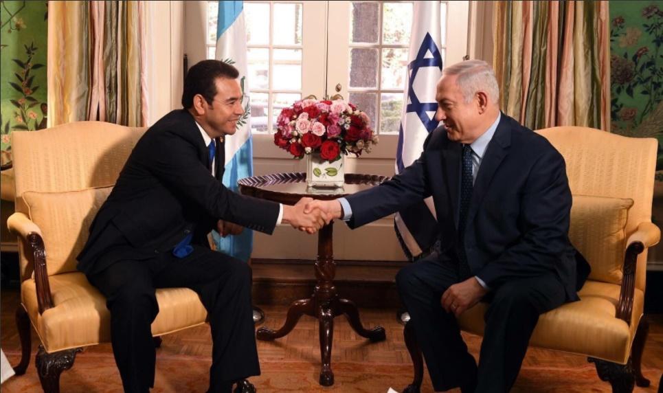 Israel saluda el anuncio del traslado de la embajada de Guatemala a Jerusalén