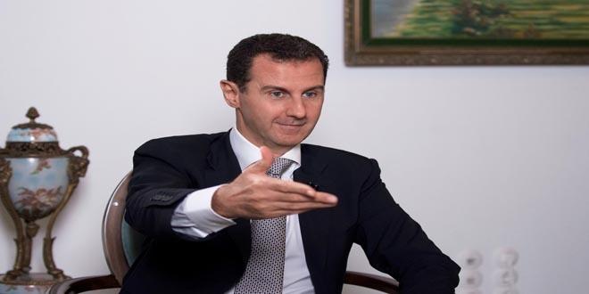 Assad dice Occidente aviva guerra en Siria para derrocarlo
