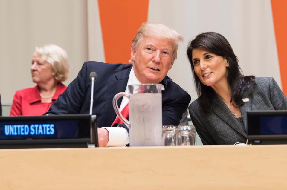 Renuncia Nikki Haley, la embajadora de EEUU en la ONU