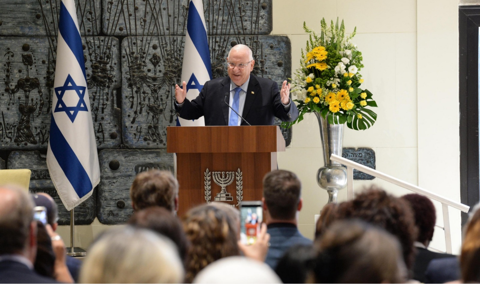 """Presidente de Israel a medios cristianos: """"Llévense a casa un mensaje de paz de la Tierra Santa y el amor por Israel"""""""