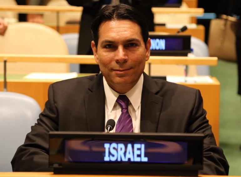 El embajador de Israel hizo sonar las alarmas antiaéreas mientras la ONU debatía sobre Gaza